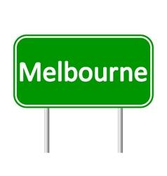 Melbourne road sign vector