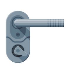 Metal door handle and lock house interior element vector