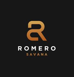 Monogram initial letter sr logo template vector