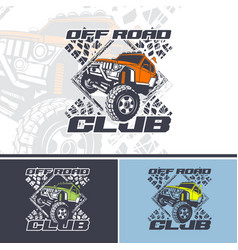off road club logo offers in three variations vector image