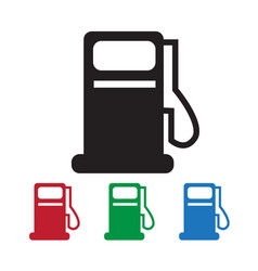 oil station icon vector image
