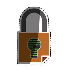 Padlock security digital vector