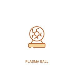 plasma ball concept 2 colored icon simple line vector image