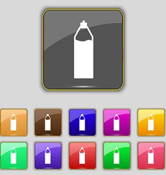 Plastic bottle with drink icon sign Set with vector image