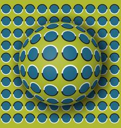 polka dot ball rolling along polka dot surface vector image