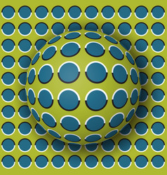 Polka dot ball rolling along the polka dot surface vector