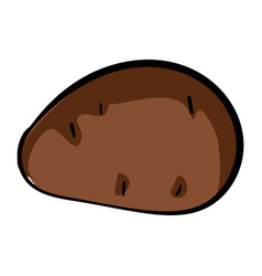 potato icon cartoon style vector image