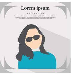 professional profile icon female portrait flat de vector image