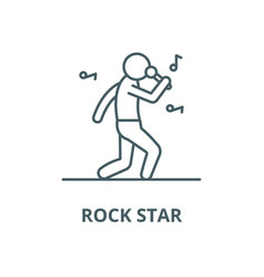 rock star line icon linear concept vector image