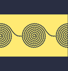 rope spiral seamless pattern vector image