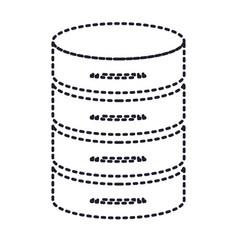 Server hosting storage icon in monochrome vector