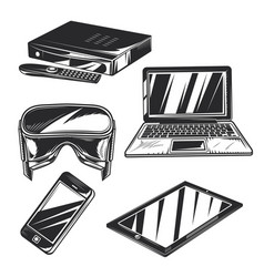 Set gadgets badges logos labels posters etc vector