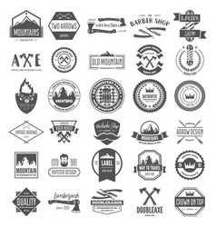 set of vintage logotypes elements labels vector image