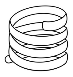 Short spring coil icon outline style vector