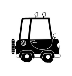 silhouette tractor farm vehicle plant transport vector image vector image
