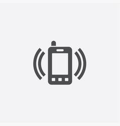 smartphone calling icon vector image