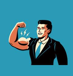 Successful businessman business success vector