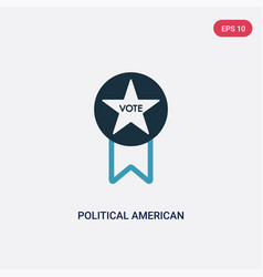 Two color political american elections publicity vector