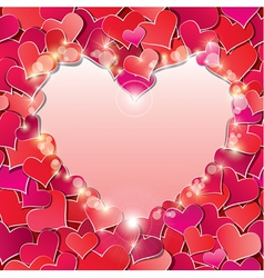 Valentines day or Wedding background with Red hear vector image