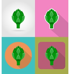 Vegetables flat icons 10 vector