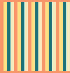 vertical stripes yellow teal blue peach pattern vector image