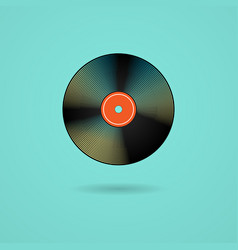 vinyl record symbol with shadow vector image