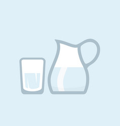 water pitcher vector image