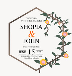 wedding invitation natural botanical floral vector image