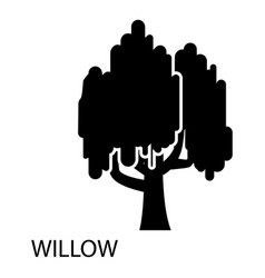 Willow icon simple style vector