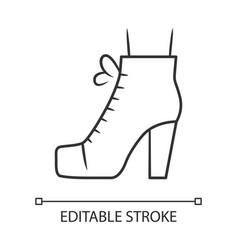 Women lita shoes linear icon vintage ladies boots vector