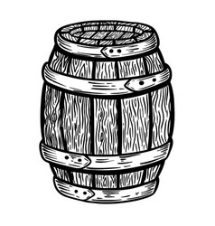 wooden barrel isolated on white background design vector image