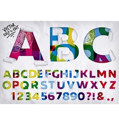 Wrapped alphabet vivid vector