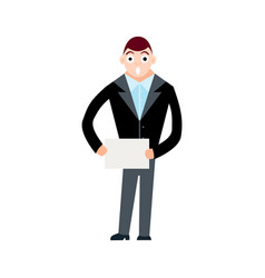young and successful business man vector image