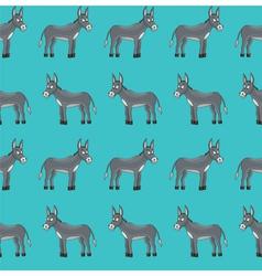 donkey pattern vector image vector image