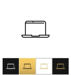 Laptop sign or modern outdoors computer vector image