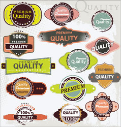 retro label style collection - grunge set vector image