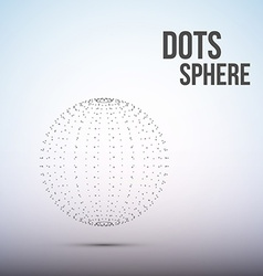 Sphere from dots Wireframe mesh polygonal element vector image vector image
