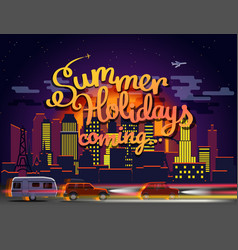 summer holidays coming vector image vector image