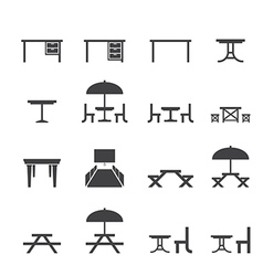 table icon set vector image