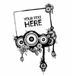 black and white grunge frame vector image vector image