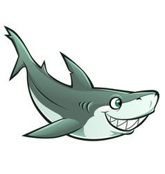 cheerful shark vector image vector image