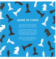 chess pieces placard with space for text vector image