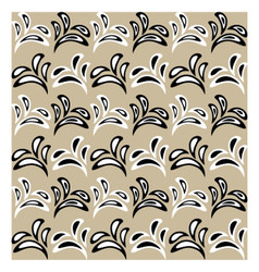 Floral pattern with alternate black and white vector