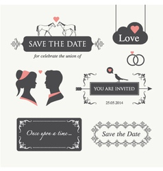 wedding invitation design element editable vector image vector image