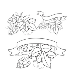 Beer emblems and labels vector image vector image