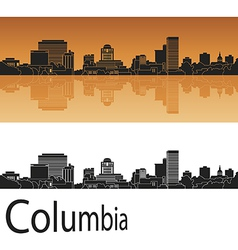 Columbia skyline in orange background vector image vector image