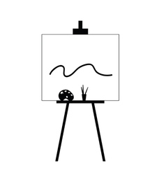 canvas with colors black vector image