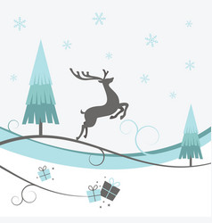 christmas reindeer winter design vector image vector image