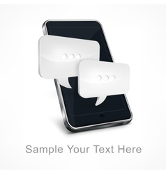 Mobile phone message on white vector image vector image