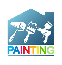 painting a house with a different tool vector image